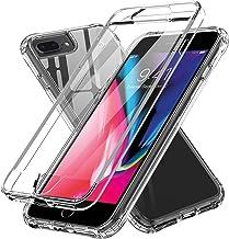 LeYi pour Coque iPhone 8 Plus/ 7 Plus / 6 Plus avec Protection d'écran Intégrée, 360 Degrés Antichoc Intégrale Gel Silicone TPU Souple et PC Rigide Full Body Anti-Rayures Housse Etui Transparente