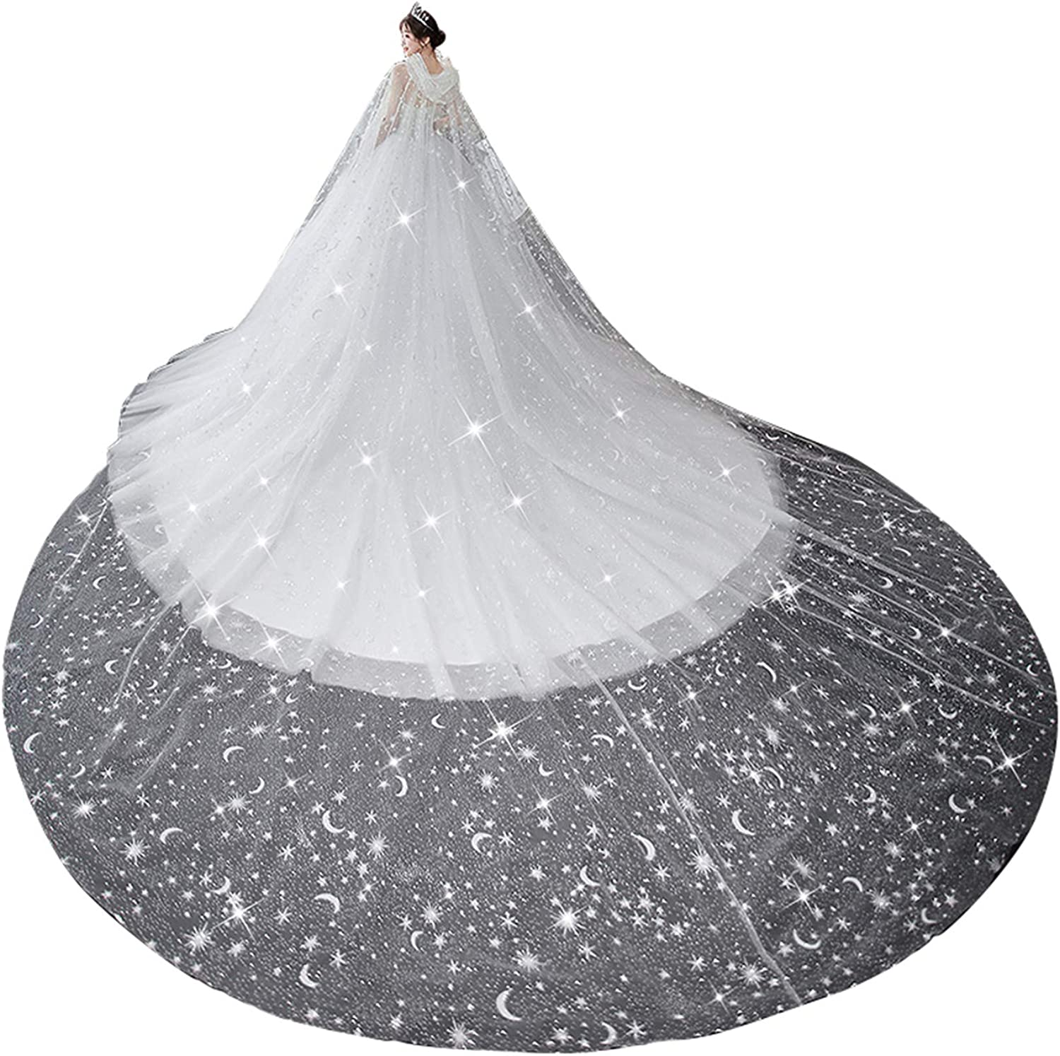 Wedding Capes Veils for Brides 70% OFF Outlet Bridal Vei Shinny Cathedral Ivory price