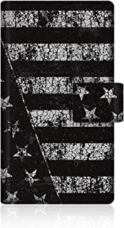 CaseMarket Amazon.co.jp 【手帳式】 CaseMarket PANTONE 6 (200SH) スリム ケース [ アメリカン モノトーン ブラック フラッグス NY ]  200SH-VCM2D2084