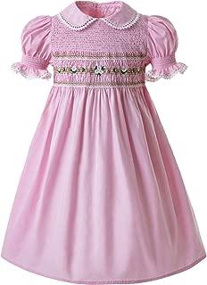 Girls Smocked Dress Puff Sleeve Hand Made Dresses