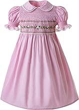 Pettigirl Girls Smocked Dress Puff Sleeve Hand Made Dresses
