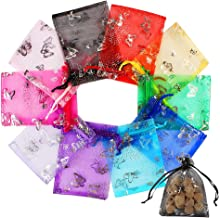 Confettis Lot de 25 GRANDS Sachets ORGANZA BLANC Cotillons Cadeaux pour Mariage Sacs Vente 11 cm x 16.5 cm Cordon Coulissant de Serrage Bijoux Boutiques Pochettes