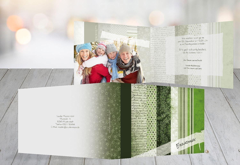 Kartenparadies Einladungskarte zu Weihnachten Foto Einladung Geschenkpapier, hochwertige Weihnachtseinladung zum zum zum Selbstgestalten (Format  148x105 mm) Farbe  Grasgruen B01N7RO7H4 | Umweltfreundlich  11971d