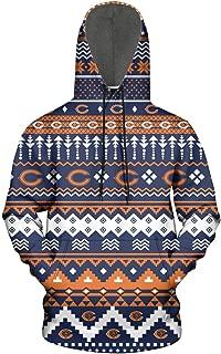 ONGEDS Sports Pullover Hoodies Sweatshirt for Mens Cool Total Print Coat