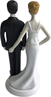 Loving Pinch Bridal Couple Bride and Groom Figurine Wedding Cake Topper (The Love Pinch), Unique and Funny