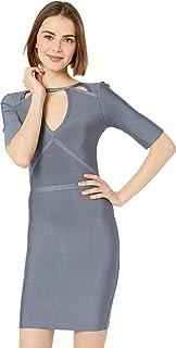 EOTMCP Women Strapless Ruched Velvet Bodycon Bandage Clubwear Dress