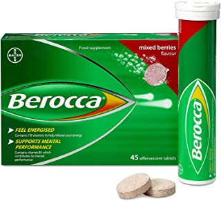 Berocca Energy Vitamin Tablets Mixed Berries Flavour, High Dose of Vitamin B Complex, Vitamin B12, Also Contains Vitamin C...