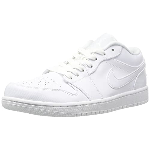 Jordan Nike Men s Air 1 Low White White White Basketball Shoe 11 Men US 2fecc8290