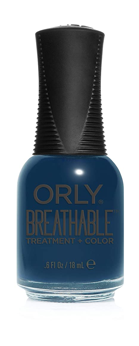 軽量運河ぜいたくOrly Breathable Treatment + Color Nail Lacquer - Good Karma - 0.6oz / 18ml