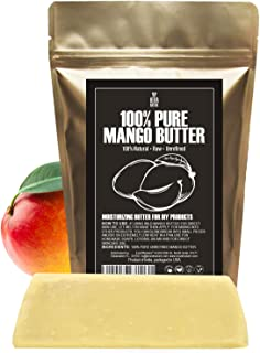 Raw, Unrefined Mango Butter Bar, 8 oz - Amazing Moisturizer, Use Alone or in DIY Body Butters, Soaps, Lotions and lip balm...