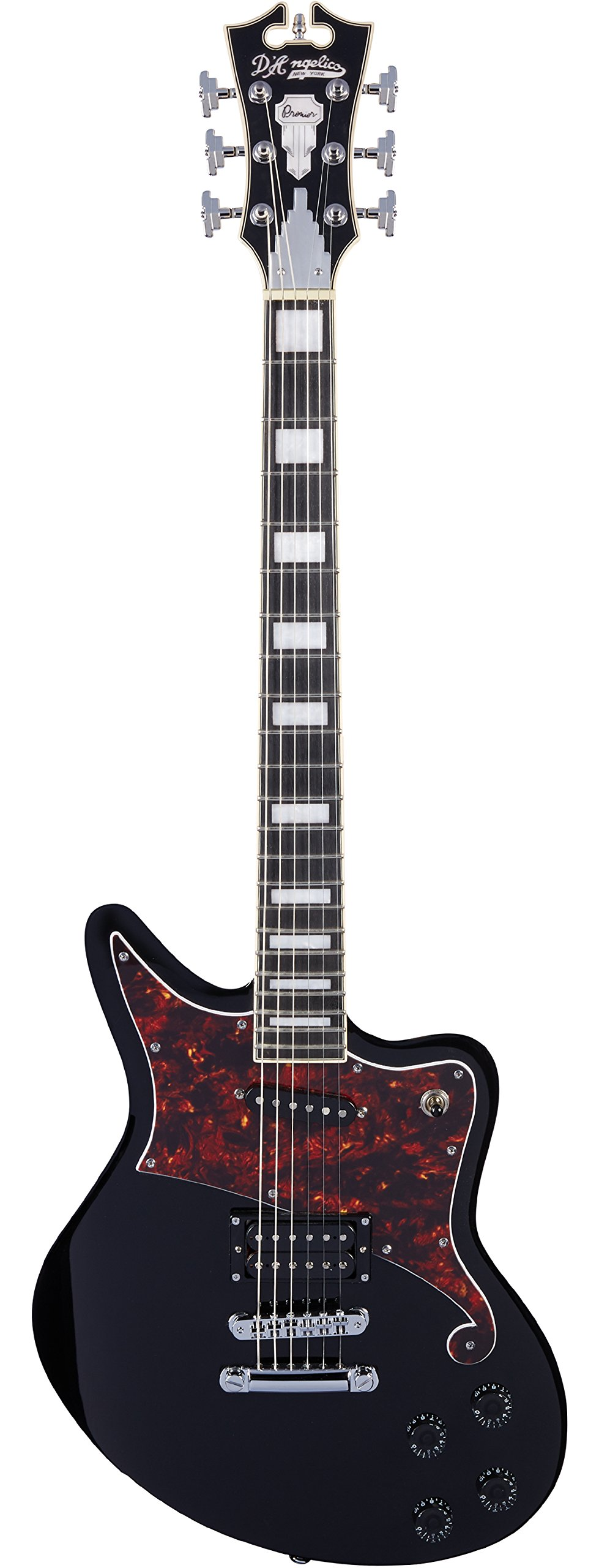 Cheap D Angelico Premier Bedford Electric Guitar - Black Black Friday & Cyber Monday 2019