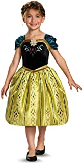 Childs Girls Disney Classic Frozen Anna Coronation Gown Costume Toddler 3T-4T