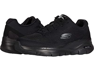 SKECHERS Arch Fit Charge Back (Black/Black) Men