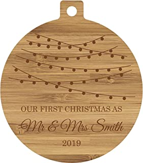 Plaquemaker Our First Christmas Together Custom Bamboo Wood Ornaments