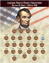 American Coin Treasures American Coin Treasures The Last 25 Years of Lincoln Wheat Penny Collection (1934-1958) Novelty