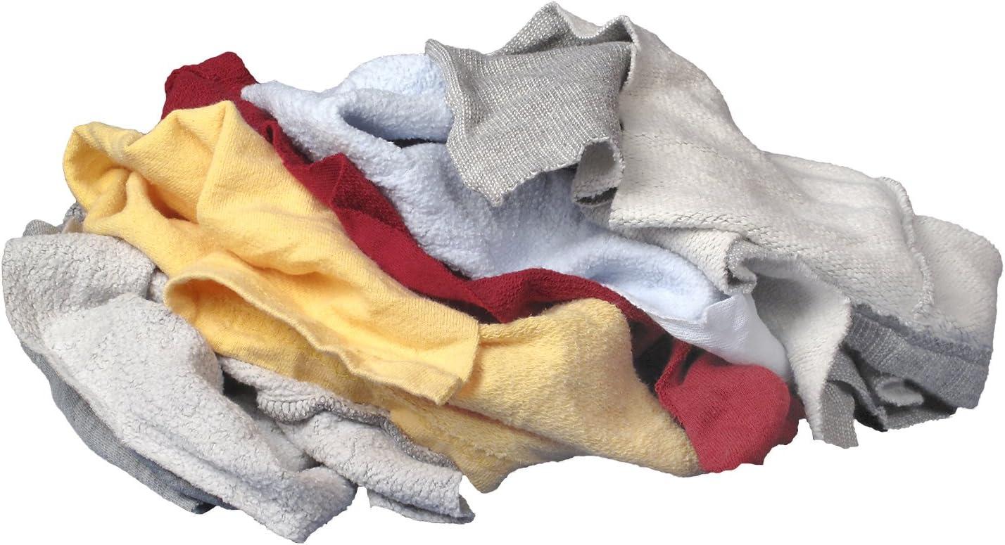 bag 25 lb Buffalo Industries Multicolored Recycled Sweatshirt Cloth Rags 10064PB