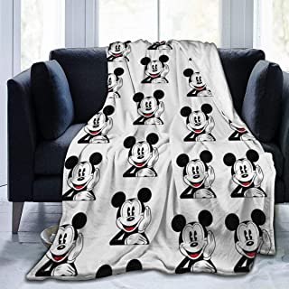 Criss Mickey Mouse Patterns Throw Blanket Ultra Soft Thick Microplush Bed Blanket-All Season Premium Fluffy Microfiber Fleece Throw for Sofa Couch Throw50 x40