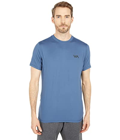 RVCA VA Sport Vent Short Sleeve Top (Dark Denim) Men