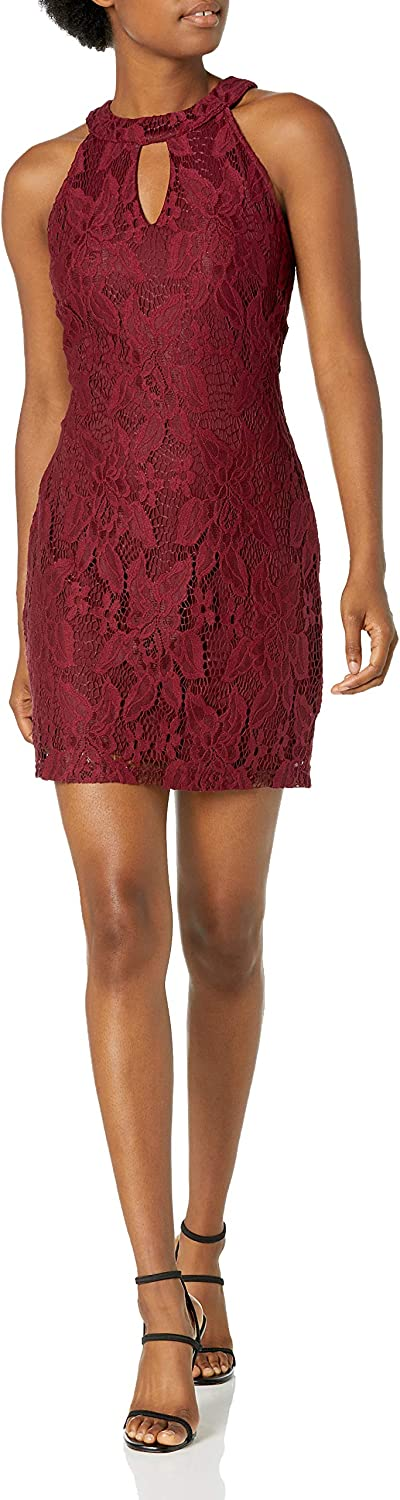 Speechless Junior's Fitted Lace Dress