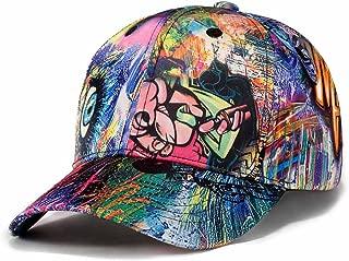 Printed Baseball Cap,Graffiti Unisex Snapback Flat Bill Hip Hop Hats