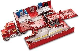Disney Pixar Cars véhicule Camion Transporteur Mack rouge avec différentes zones de jeu pour voitures, jouet pour enfant, ...