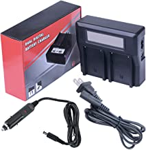 Dual Channel Smart LCD Digital Fast Battery Charger for Sony DEV-3, DEV-5, DEV-30, DEV-50, DEV-50V Digital Recording Binoculars