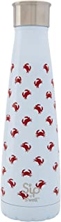 S'well 200115111 15 oz S'ip Insulated, Double-Walled Stainless Steel Water Bottle, Crab Walk 15oz, 450 ml,