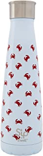 S'well 200115111 15 oz Crab Walk S'ip Insulated, Double-Walled Stainless Steel Water Bottle, 15oz