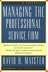 Managing The Professional Service Firm Kindle Edition