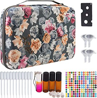 Essential Oils Storage for 70 Bottles - Essential Oils Carrying Hard Organizer Case for Artnaturals/Young Living/Radha/Doterra Aromatherapy Essential Oils 10ml with Foam Insert - Flower