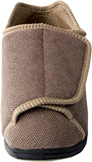 Womens Extra Extra Wide Slippers - Swollen Feet - Adjustable Closure - Taupe 10
