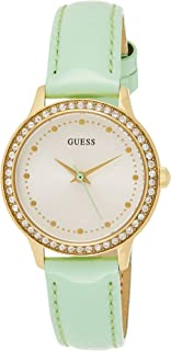 GUESS Womens Quartz Dress Watch, Analog and Leather- W0648L16