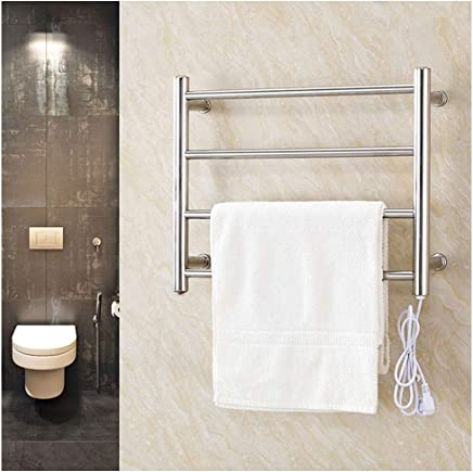Towel Warmer Drying Rack Wall Mount Stainless Steel Polished Bathroom Home Decor