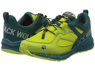 Jack Wolfskin Kids Unleash 2 Speed Texapore Low (Little Kid/Big Kid) (Lime/Dark Green) Boy