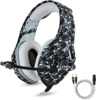 ONIKUMA PS4 Gaming Headset with Mic for PC Mac Laptop New Xbox one Nintendo DS PSP Surround Stereo Sound Noise Reduction O...