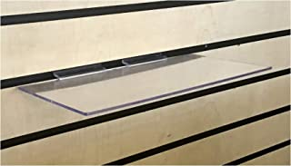 Clear Slatwall Shelves 6 Inch x 12 Inch Set of 8 Retail Display