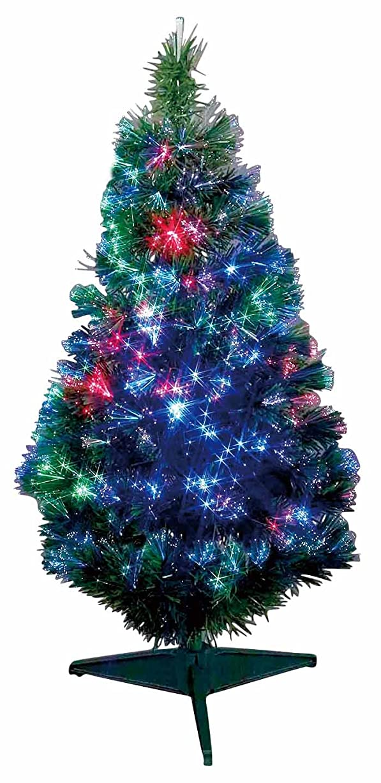 クラブ銛汚染するドウシシャ クリスマスツリー ヌードファイバーグリーン LEDファイバー 90cm FN-90GN