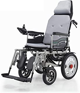 Silla de ruedas eléctrica, Plegable Ligera Scooter médico portátil, soporta 265 LB, Silla