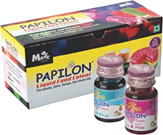 Papilon Shades of Liquid Food Color, 10 X 20 ml