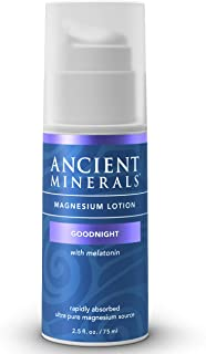 Sponsored Ad - Ancient Minerals Goodnight Magnesium Lotion with Melatonin and OptiMSM - Night Cream of Topical Nighttime M...