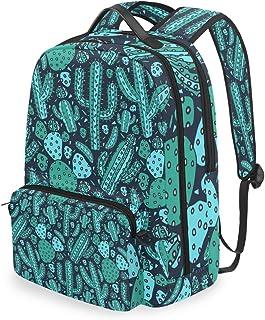 Mochila con bolsa cruzada desmontable, color verde, cactus para ordenador, bolsa para viajes, senderismo, acampada