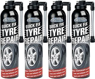 4 x 300 ml Quick Fix Auto Flat Reifen Reparatur Schaumstoff Dichtungen Aufblasen Fahrrad Fahrrad Fahrrad