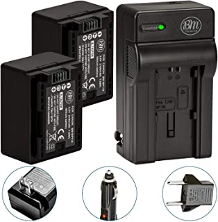 BM Premium 2 BP-718 Batteries and Charger for Canon Vixia HFR80, HFR82, HFR800, HFR70, HFR72, HFR700, HFM500, HFR30, HFR32...