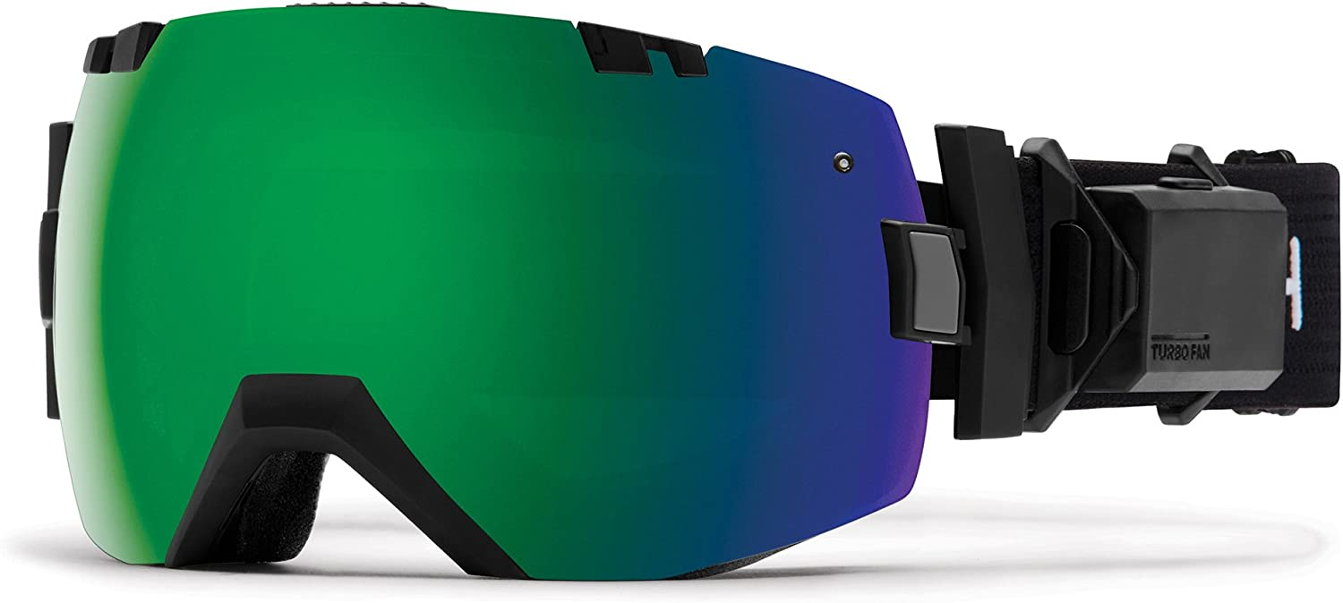 Smith Optics I OX Turno Fan Snow Goggle with CP Sun Green Mirror and CP Storm pink Lens