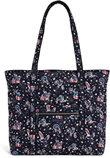 Iconic Vera Tote in Holiday Owls, Signature Cotton