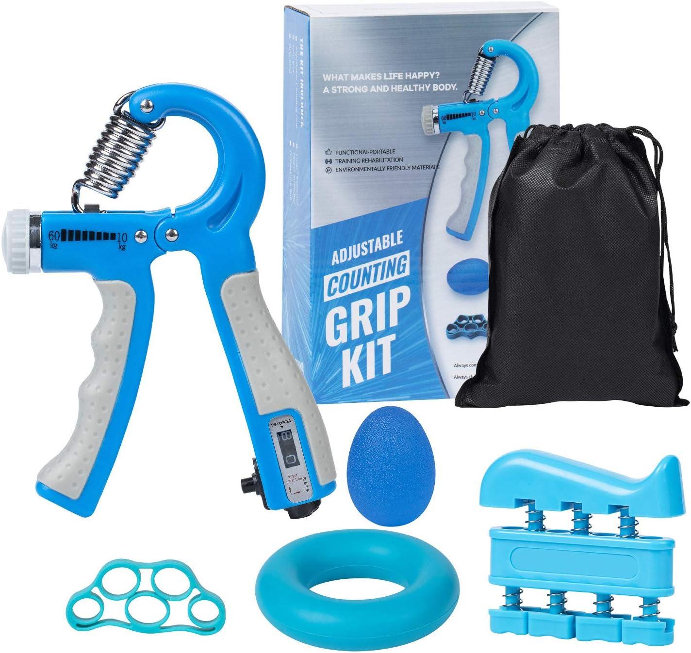 DomKom Grip Strength Trainer Workout Adjustable Max 82% OFF Re Kit 5 Pack online shop