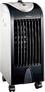 PURLINE RAFY 51 Climatizador evaporativo Compacto de bajo Consumo, Ruedas, Lamas oscilantes, plástico, Acero, Blanco y Negro, 25x29x58