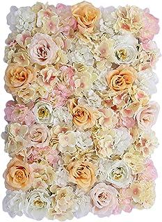 Clenp Flores Artificiales, Panel De Flores Artificiales Exquisita Flor De Seda Sintética Multiusos Estimulación Decorativa...