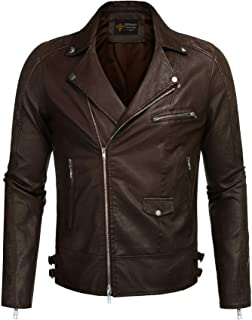 COOFANDY Men's Velvet Rivet Design Punk Rock Motorcycle Biker Jacket Zipper Coat