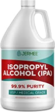 Jermee Isopropyl Alcohol (IPA) 99.9% Purity - USP/Medical Grade - Concentrated Rubbing Alcohol, Cleaner & Disinfectant, Ma...